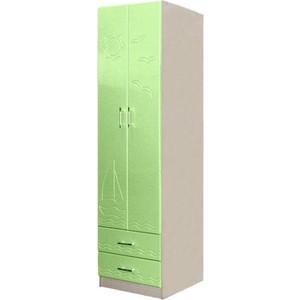 Шкаф для одежды Олимп Лего - 3 дуб линдберг/ПВХ эвкалипт металлик