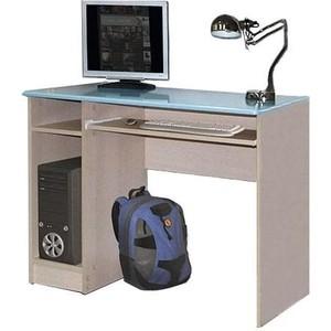 Стол компьютерный Олимп Лего - 4 дуб линдберг/ПВХ голубой металлик