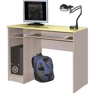 Стол компьютерный Олимп Лего - 4 дуб линдберг/ПВХ кремовый металлик