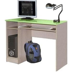 Стол компьютерный Олимп Лего - 4 дуб линдберг/ПВХ эвкалипт металлик