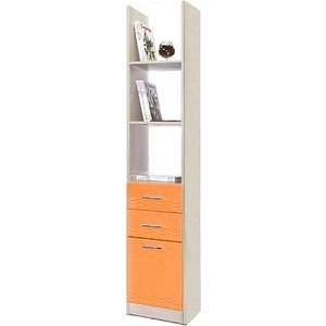 Шкаф комбинированный Олимп Лего - 6 дуб линдберг/ПВХ оранжевый металлик шкаф комбинированный олимп лего 7 дуб линдберг