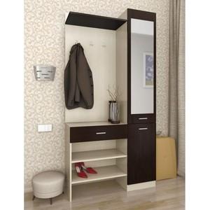 Шкаф комбинированный Олимп Виола - 1 дуб линдберг/венге/зеркало