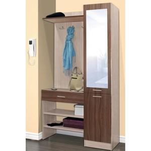 Шкаф комбинированный Олимп Виола - 1 ясень шимо светлый/ясень темный/зеркало