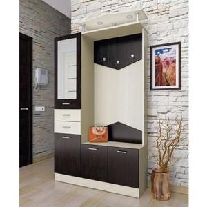 Шкаф комбинированный Олимп Виола - 3 дуб линдберг/венге/зеркало
