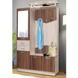 Шкаф комбинированный Олимп Виола - 3 ясень шимо светлый/ясень темный/зеркало