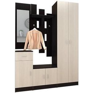 Шкаф комбинированный Олимп Виола - 4 венге/дуб линдберг/зеркало