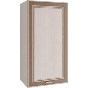 Шкаф навесной Олимп 06.107 вудлайн кремовый/белый/ Masa Decor аруша венге/профиль венге кожа