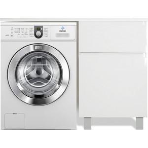 Тумба с раковиной Эстет Даллас Люкс 100R напольная, над стиральной машиной, белая (ФР-00002316)