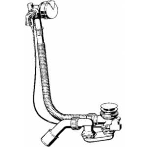 Слив-перелив с наполнением Viega Simplex 6168.45 для стандартной ванны автомат хром (586492) слив перелив для ванны viega simplex 285357
