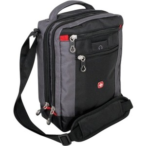 Сумка-планшет Wenger Vertical Boarding Bag, черная/серая, 22х10х29 см
