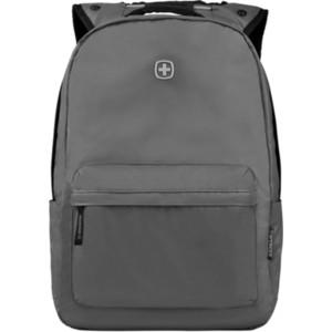 Рюкзак городской Wenger 14'', с водоотталкивающим покрытием, серый, 28x22x41 см, 18 л, шт рюкзак городской wenger 34 л зеленый камуфляж 37х19х48 см