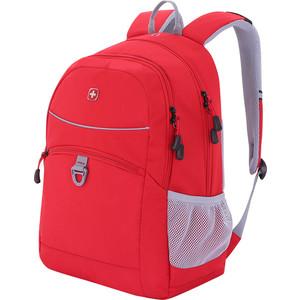 Рюкзак дорожный Wenger красный/серый, со светоотражающими элементами, 33x17x46 см, 26л, шт цена и фото