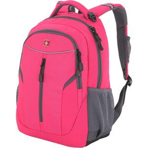 Рюкзак дорожный Wenger розовый/серый, со светоотражающими элементами, 32x15x45 см, 22 л, шт цена и фото