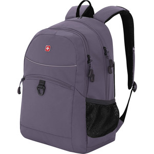 Рюкзак дорожный Wenger серый/черный, со светоотражающими элементами, 33x17x46 см, 26 л, шт цена