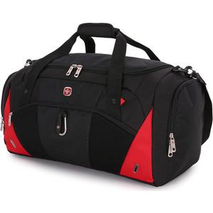 Сумка спортивная Wenger черная/красная, 56х25, 5х28, 5 см, 56 л