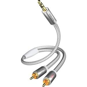 Кабель межблочный Inakustik Premium MP3, 3.5 mm 2RCA, 5 m, 00410005