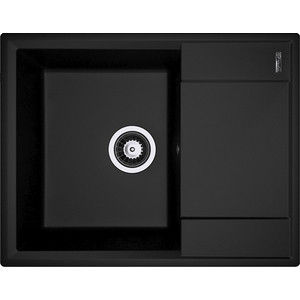 Кухонная мойка Flortek Консул 640 черный (23.020.C0640.102) цены