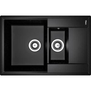 Кухонная мойка Flortek Консул 760 К черный (23.025.D0760.102) rosalind черный 760 a