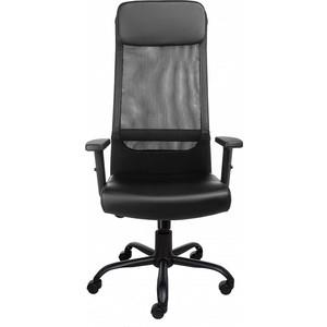 Кресло Алвест AV 159 ML (819) МК экокожа/сетка однослойная 223/470 черное/черное