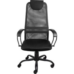 Кресло Алвест AV 142 ML (142) МК кз/TW- сетка/сетка однослойная 311/455/470 черное/черное/черное кресло алвест av 112 pl 727 mk ткань 418 черная кз 311 черный