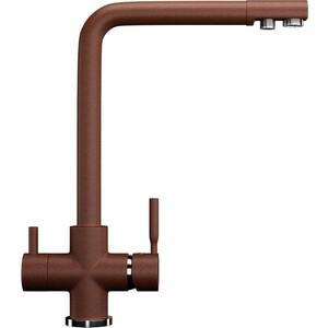 Смеситель для кухни с подключением к фильтру питьевой водой Ulgran U-016 терракотовый (U-016-307)