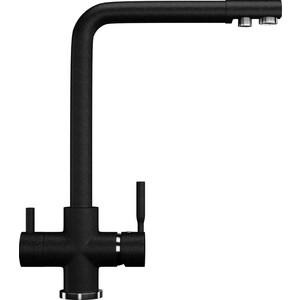 Смеситель для кухни Ulgran U-016 с подключением к фильтру, черный (U-016-308)