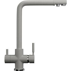 Смеситель для кухни с подключением к фильтру питьевой водой Ulgran U-016 серый (U-016-310)