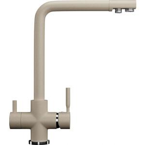 Смеситель для кухни с подключением к фильтру питьевой водой Ulgran U-016 бежевый (U-016-328)