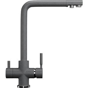 Смеситель для кухни Ulgran U-016 с подключением к фильтру, графитовый (U-016-342)