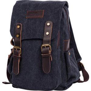 Рюкзак дорожный Polar П1488-05 черный брезент саквояж дорожный polar цвет черный коричневый 52 5 л 7004 05