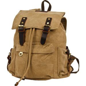 Рюкзак городской Polar П3062-13 бежевый брезент рюкзак городской polar п3062 13 бежевый брезент