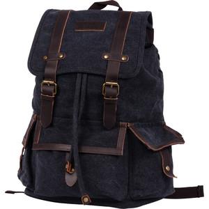 Рюкзак дорожный Polar П3303-05 черный брезент саквояж дорожный polar цвет черный коричневый 52 5 л 7004 05