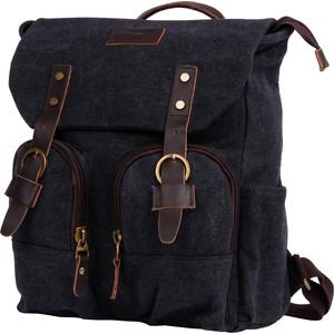 Рюкзак дорожный Polar П3788-05 черный брезент