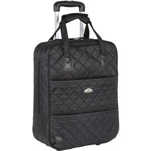 Чемодан Polar П7095 черный сумка верт.на колесах Стежка Ручная кладь