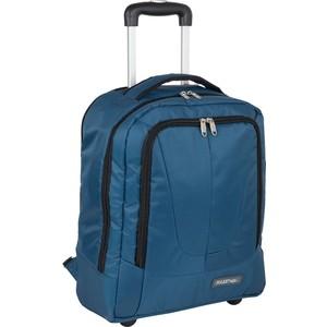 Рюкзак дорожный Polar П7102 синий с телегой на колесах