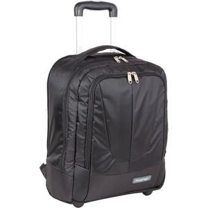 Рюкзак дорожный Polar П7102 черный с телегой на колесах