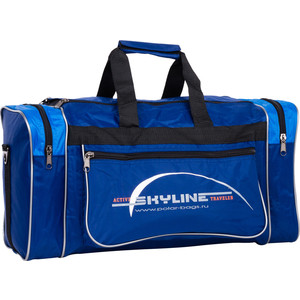 Сумка спортивная Polar 6007/6 синий/голубой (серая стропа) Нейлон сумка спортивная polar п9009 6 синий оранж серая стропа джонсон ткань пвх600 молния 10