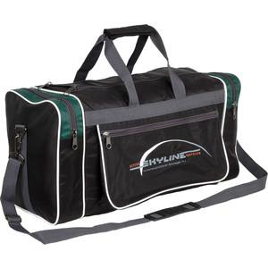 Сумка спортивная Polar 6007/6 черный/зеленый (серая стропа) Нейлон сумка спортивная polar п05 6 черно серый серая стропа скайлайн