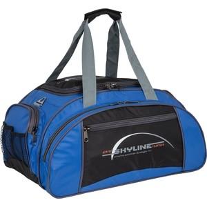 Сумка спортивная Polar 6063/6 черно/голубой (серая стропа) малая Скайлайн под обувь сумка спортивная polar п05 6 черно серый серая стропа скайлайн