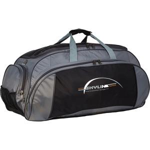Сумка спортивная Polar 6064/6 черно/серый (серая стропа) большая Скайлайн под обувь сумка спортивная polar п05 6 черно серый серая стропа скайлайн