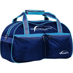 Сумка спортивная Polar П05/6 синий/голубой (серая стропа) Скайлайн сумка спортивная polar п9009 6 синий оранж серая стропа джонсон ткань пвх600 молния 10