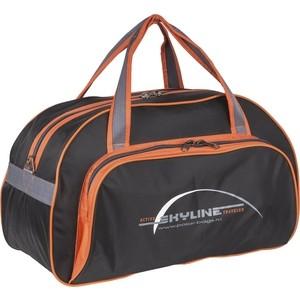 Сумка спортивная Polar П9010/6 черно/оранжевый (серая стропа) Скайлайн сумка спортивная polar п05 6 черно серый серая стропа скайлайн