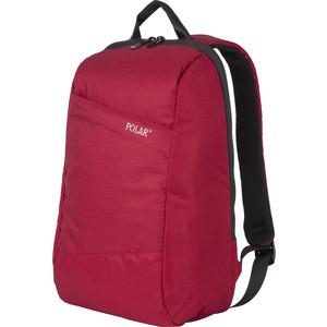 Рюкзак городской Polar К9173 Red USB c креплением на Чемодан и потайным отделением