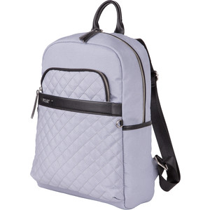 Рюкзак городской Polar К9276 L.Grey USB женский