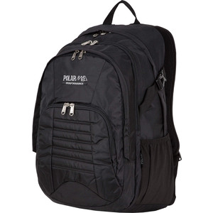 Рюкзак дорожный Polar П3221-05 черный саквояж дорожный polar цвет черный коричневый 52 5 л 7004 05