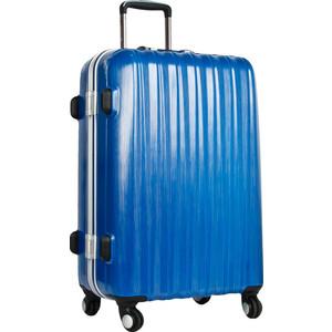 Чемодан Polar Р1155 (3-ой) синий (20) пластик ABS малый 4-е колеса чемодан airport 78 см темно синий 4 колеса