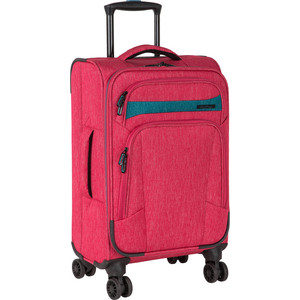 Чемодан Polar Р18А13 (2-ой) красный (19) малый тканевый облегченный (PS18A13) чемодан airport 72 см красный 2 колеса