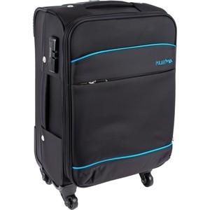 Чемодан Polar Р8719 (3-ой) черный (24) средний 4 колеса чемодан airport 78 см темно синий 4 колеса