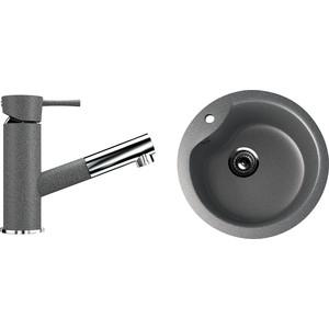 Кухонная мойка и смеситель Ulgran U-102 темно-серый оснастка рыболовная agp заводные кольца серый темно серый серебристый