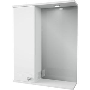 Зеркало-шкаф Меркана Астурия 58 с подсветкой, белый (2-036-000-L-S)